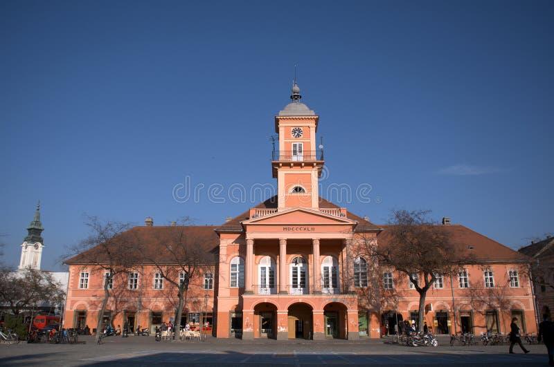 Rathaus, Sombor, Serbien stockfotografie