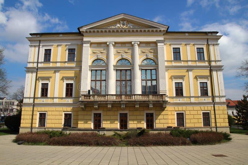 Rathaus in Spisska Nova Ves, Slowakei stockbild