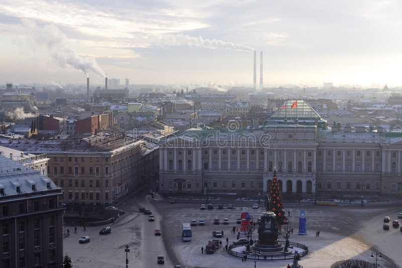 Rathaus St Petersburg, Russland lizenzfreie stockbilder