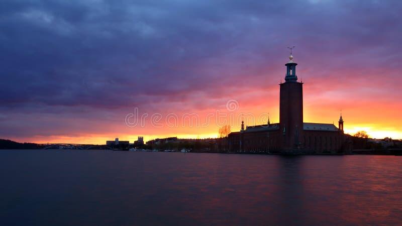 Rathaus Stockholm lizenzfreie stockfotos