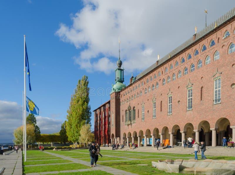 Rathaus, Stockholm stockfotografie