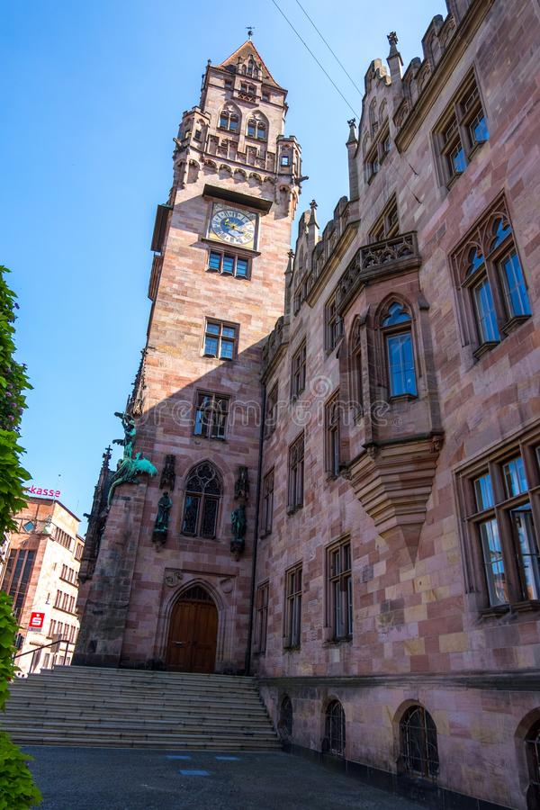 Rathaus Town Hall, em Saarbrucken, Sarre, Alemanha fotografia de stock
