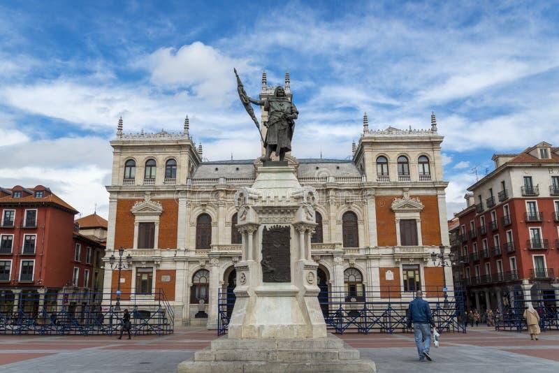 Rathaus Valladolid, Spanien stockfotos