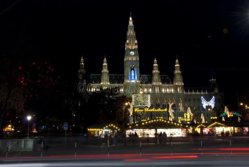 Rathaus Viena stock afbeelding