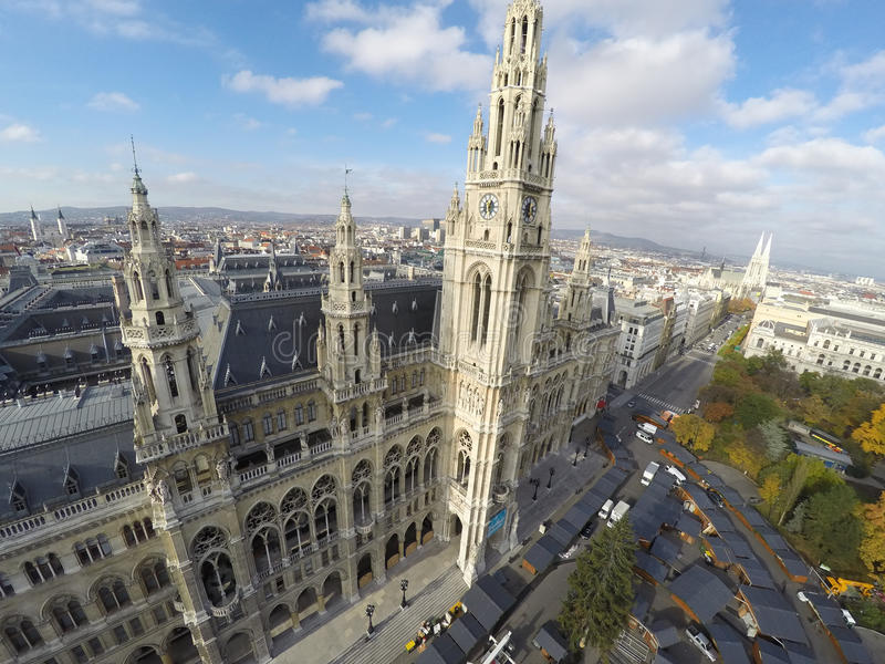 Rathaus a Vienna fotografie stock libere da diritti