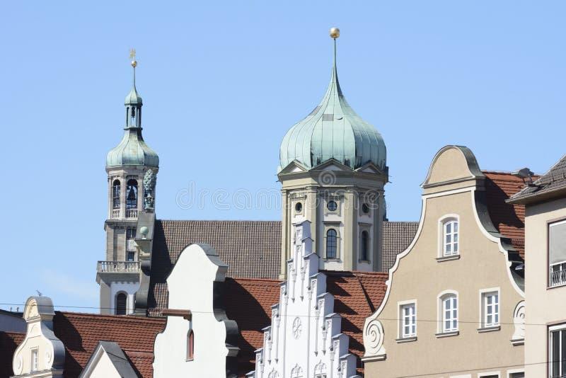 Rathaus von Augsburg stockfoto