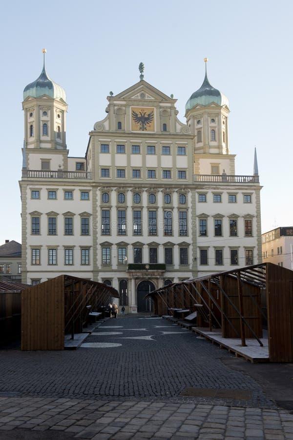 Rathaus von Augsburg lizenzfreie stockbilder