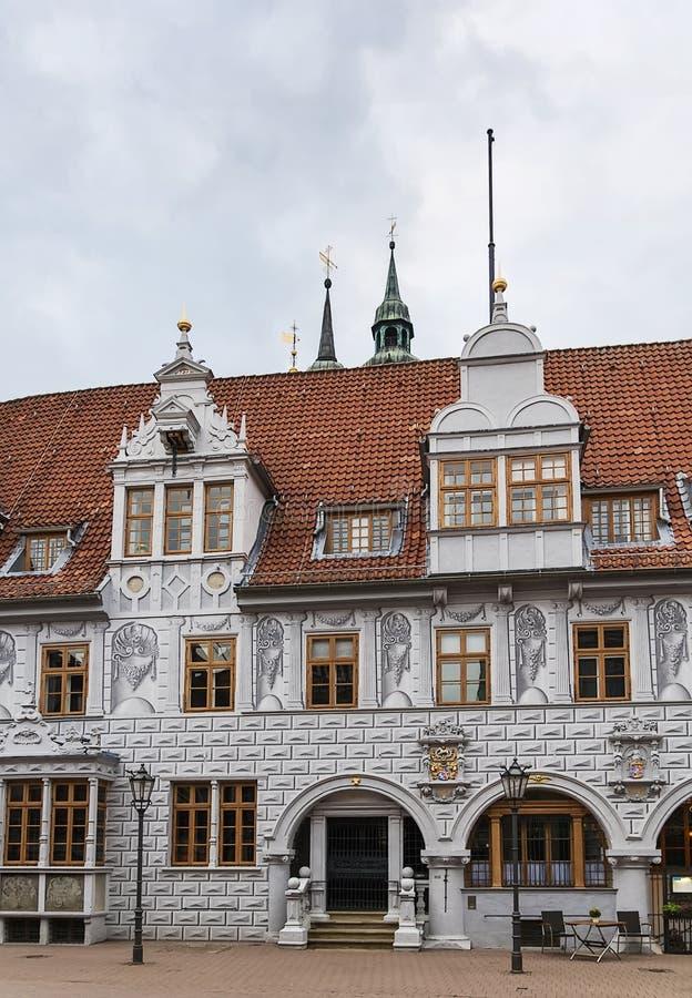Rathaus von Celle, Deutschland lizenzfreie stockbilder