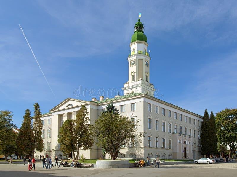 Rathaus von Drohobych, Ukraine lizenzfreies stockbild