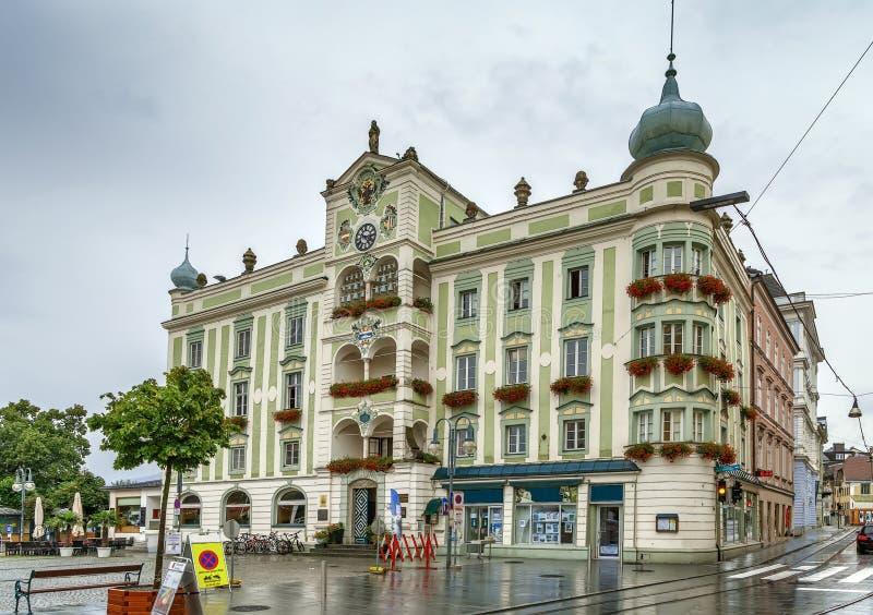 Rathaus von Gmunden, Österreich lizenzfreie stockfotografie