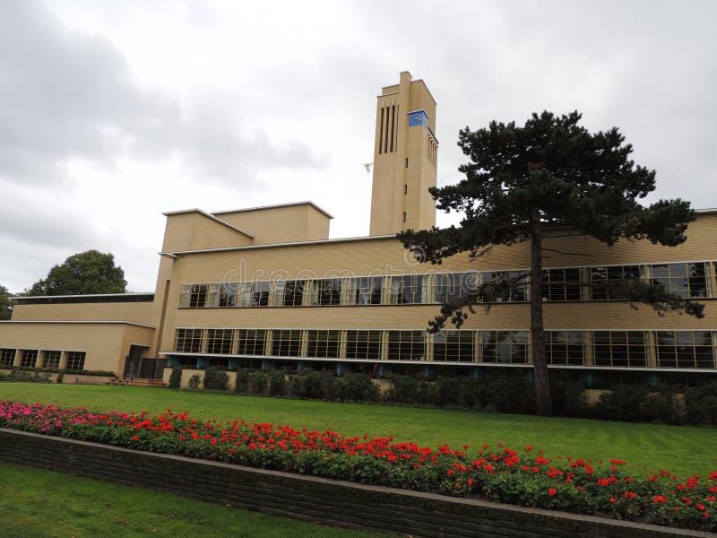 Rathaus von Hilversum, die Niederlande, Europa Architekt: W M Dudok lizenzfreies stockbild