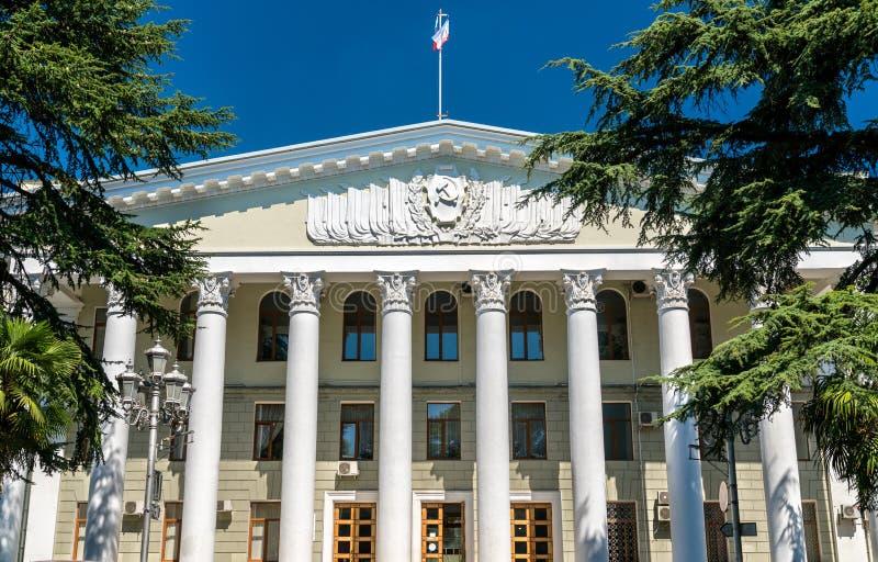Rathaus von Jalta in Krim stockfoto
