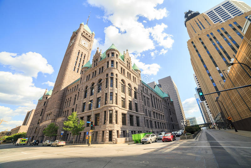 Rathaus von Minneapolis, Minnesota stockfoto