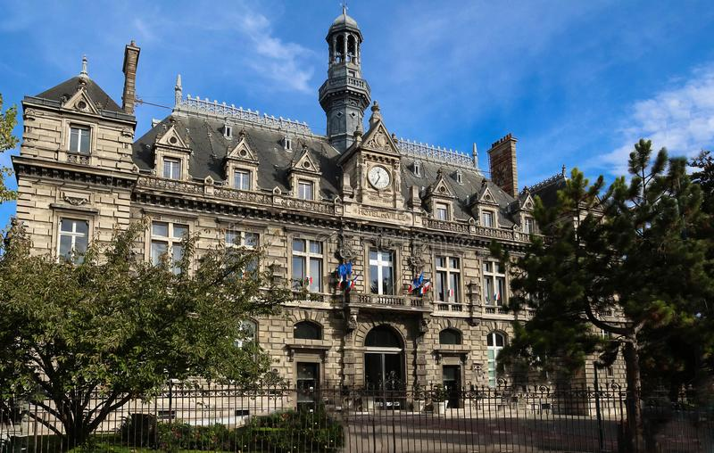 Rathaus von Pantin-Stadt - Frankreich lizenzfreie stockbilder