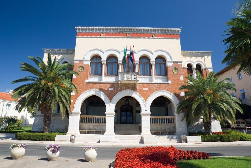 Rathaus von Porec stockbild