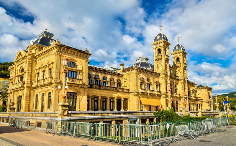 Rathaus von San Sebastián - Donostia, Spanien stockfoto