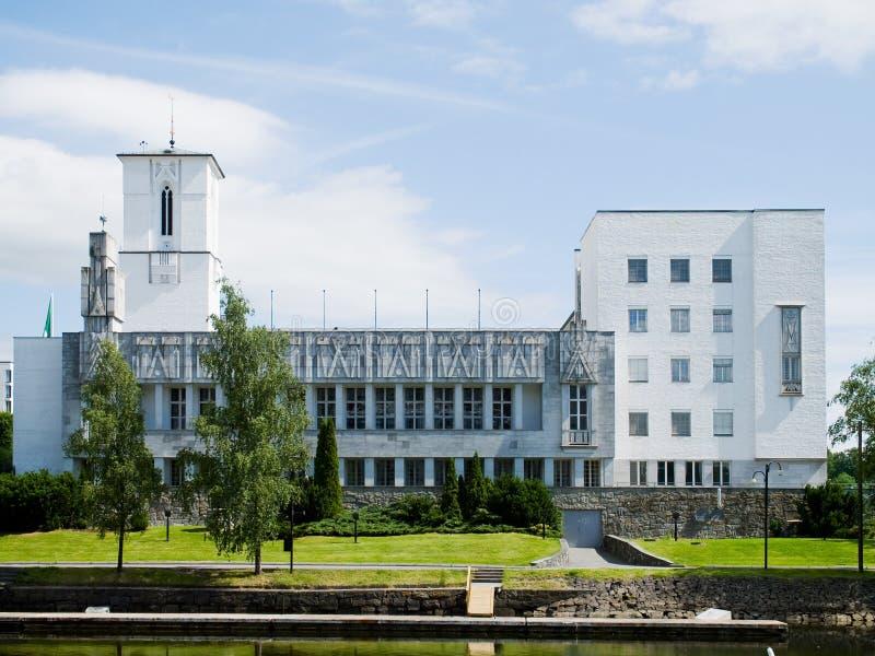 Rathaus von Sandvika, Norwegen lizenzfreie stockbilder