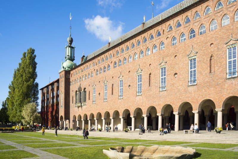 Rathaus von Stockholm lizenzfreie stockbilder