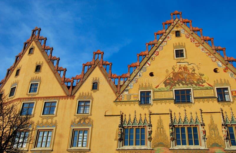 Rathaus von Ulm (Deutschland) stockfotografie