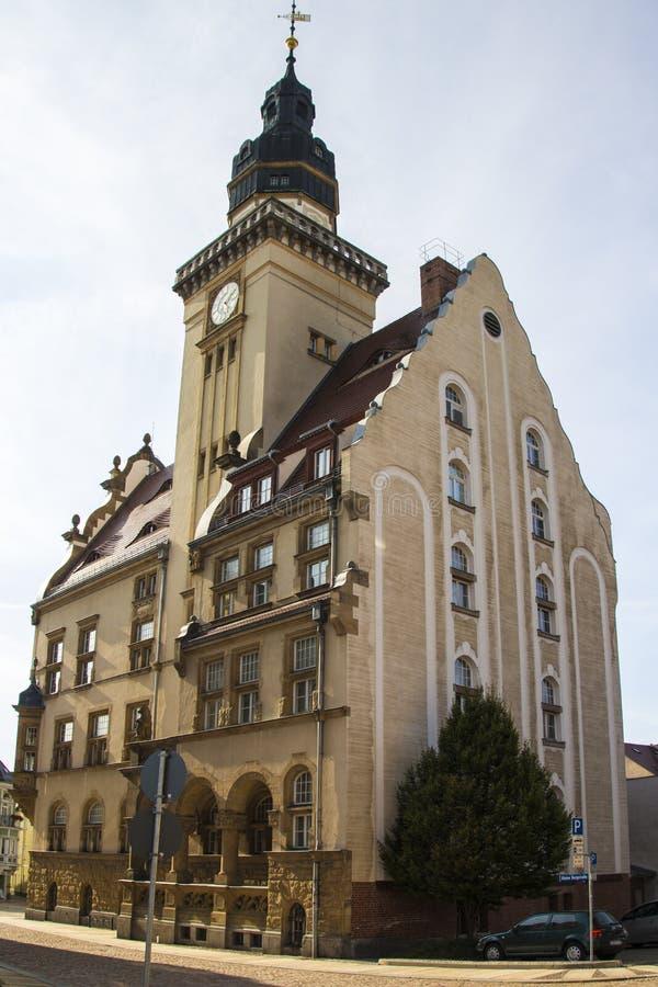 Rathaus von Werdau, Deutschland stockbilder