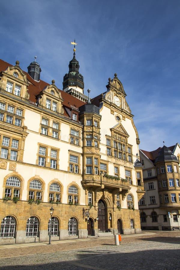 Rathaus von Werdau, Deutschland stockbild