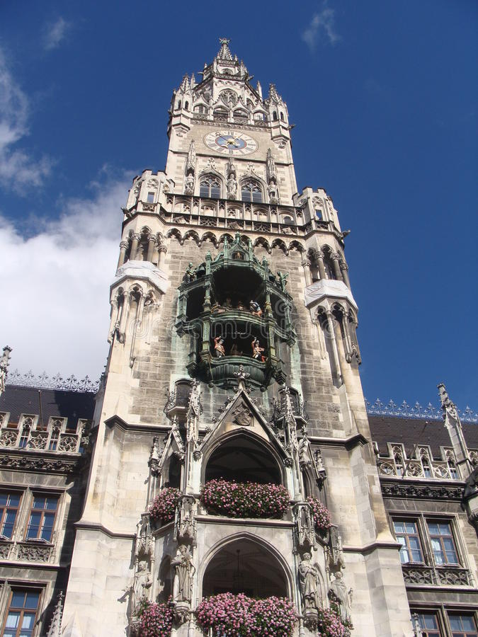 Rathaus w Muenchen, Townhall w Monachium fotografia stock