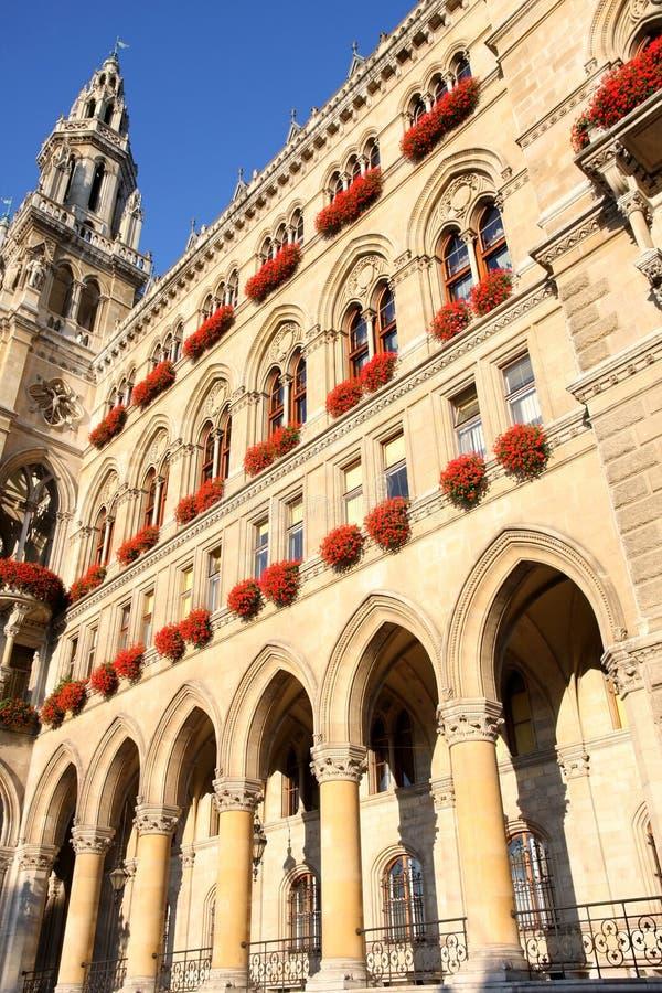 Rathaus w Wiedeń, Austria obrazy royalty free