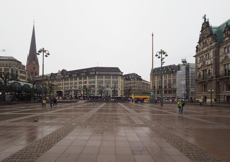 Rathausmarkt kwadrat w Hamburg obrazy stock