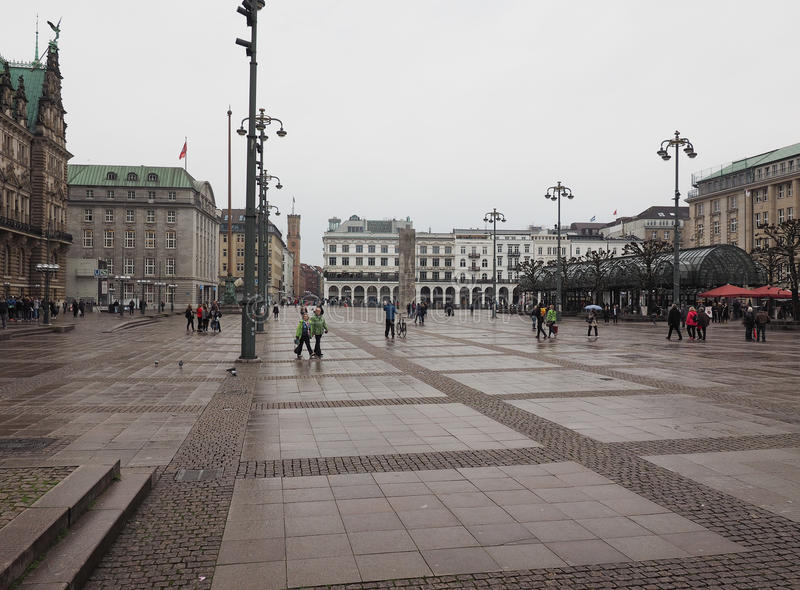 Rathausmarkt kwadrat w Hamburg obrazy royalty free