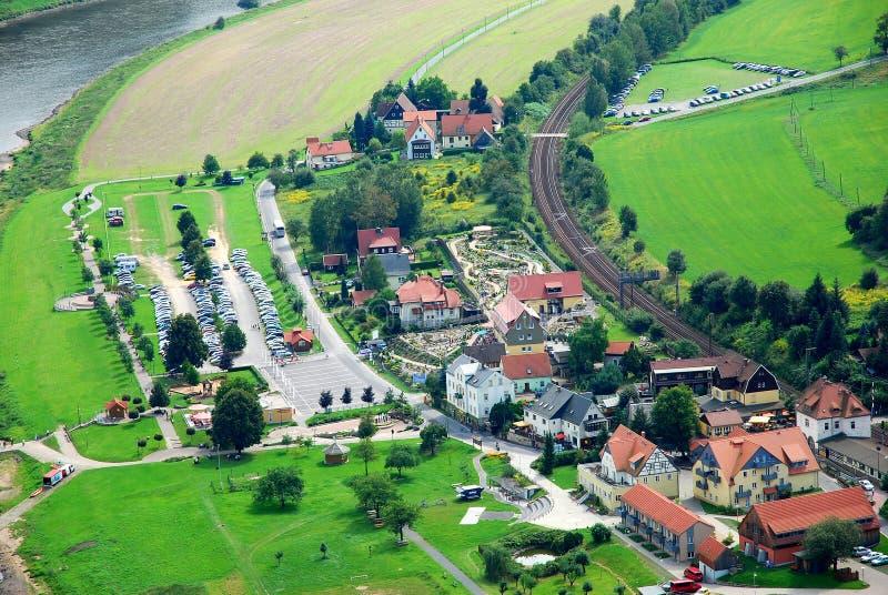 Rathen vicino a Bastei in Sassonia fotografia stock libera da diritti