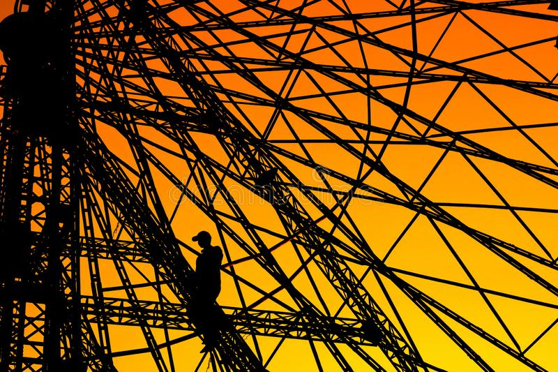 The Ferris Wheel Worker stock images