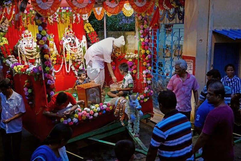 Rathjatra van Lord Jagannath, West-Bengalen, India royalty-vrije stock fotografie