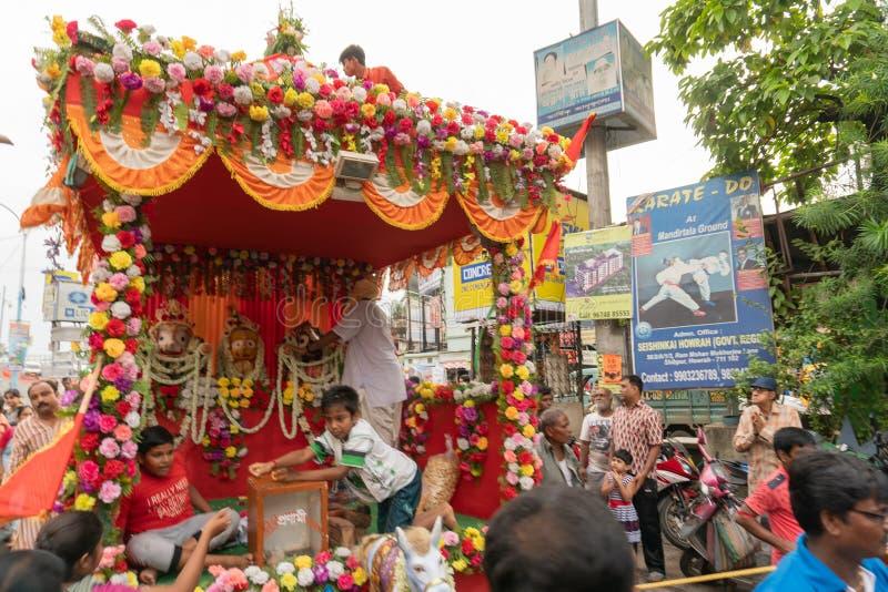 Rathjatra van Lord Jagannath, West-Bengalen, India stock afbeeldingen