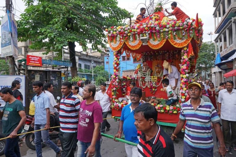 Rathjatra van Lord Jagannath, West-Bengalen, India royalty-vrije stock foto