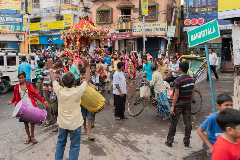 Rathjatra van Lord Jagannath, West-Bengalen, India stock fotografie