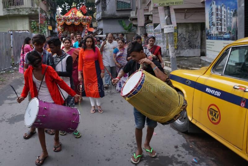 Rathjatra van Lord Jagannath, West-Bengalen, India stock foto