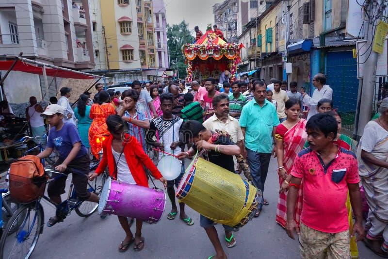 Rathjatra van Lord Jagannath, West-Bengalen, India stock afbeelding
