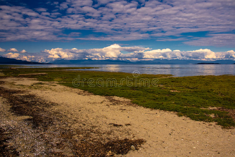 Rathtrevor Beach near Parksville, Canada. Cloudy Day at Rathtrevor Beach near Parksville, Canada stock image