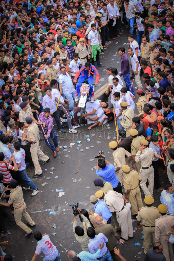 Rathyatra Ahmedabad, festival de rue d'Inde photo stock