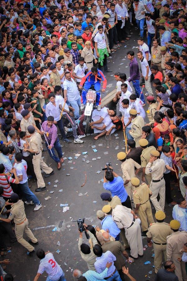 Rathyatra Ahmedabad, India straatfestival stock foto