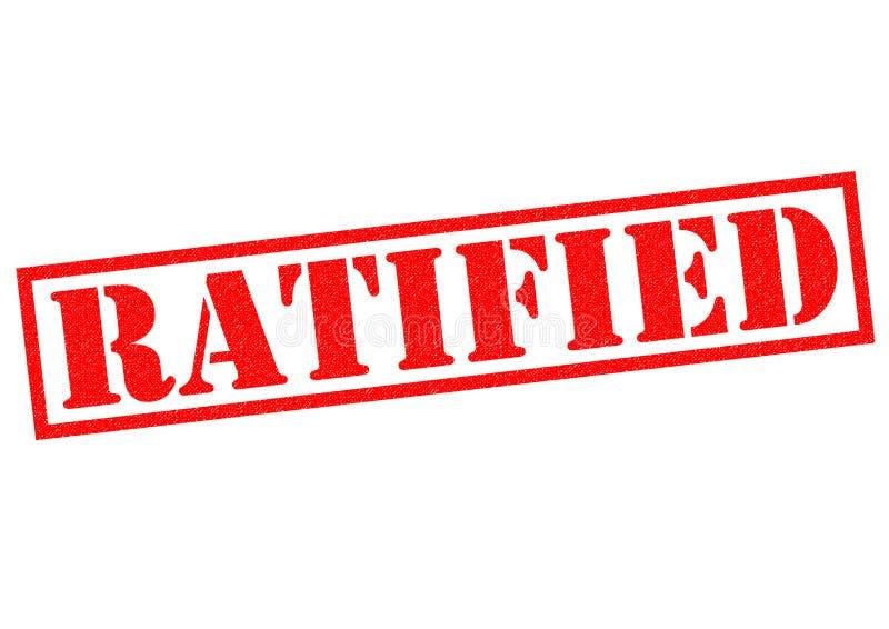 ratificado ilustração royalty free