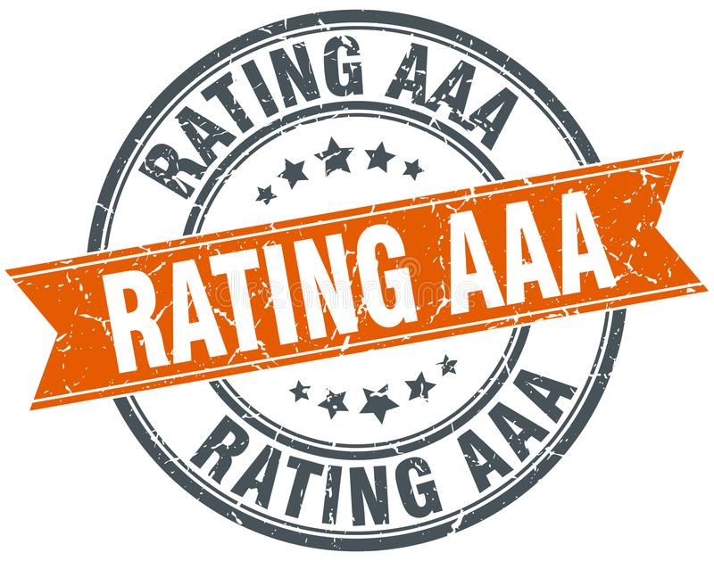 rating aaa stamp royalty free illustration