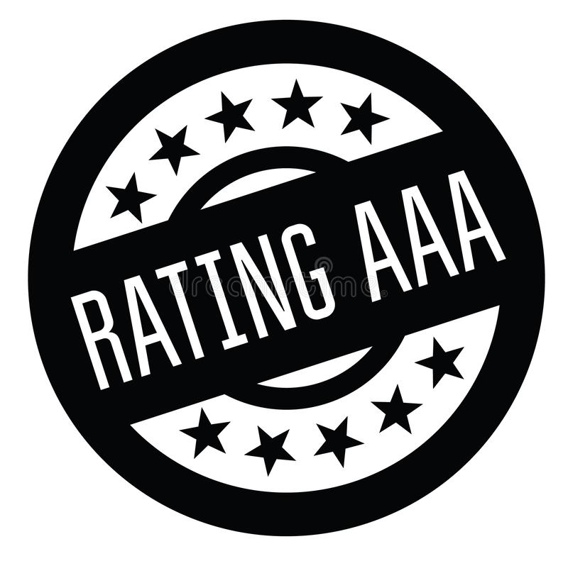 Rating aaa rubber stamp vector illustration