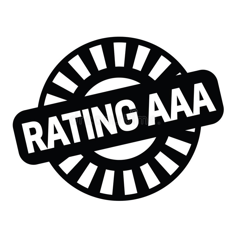 Rating aaa rubber stamp royalty free illustration