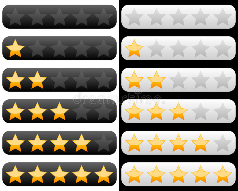 Download Rating Bar With Golden Stars Stock Vector - Image: 22729573