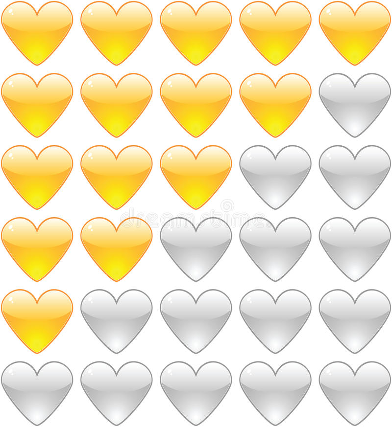 Download Rating Hearts Royalty Free Stock Photography - Image: 25063047