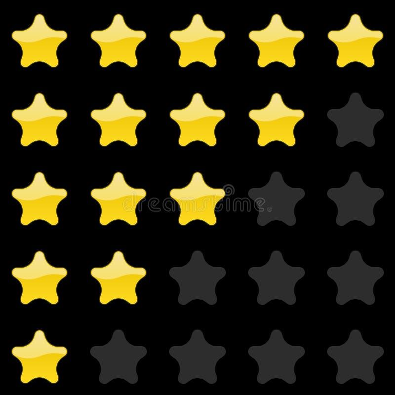 Rating stars panel. Customer review, vote navigation bar. Vector satisfaction level symbol. Vector illustration vector illustration