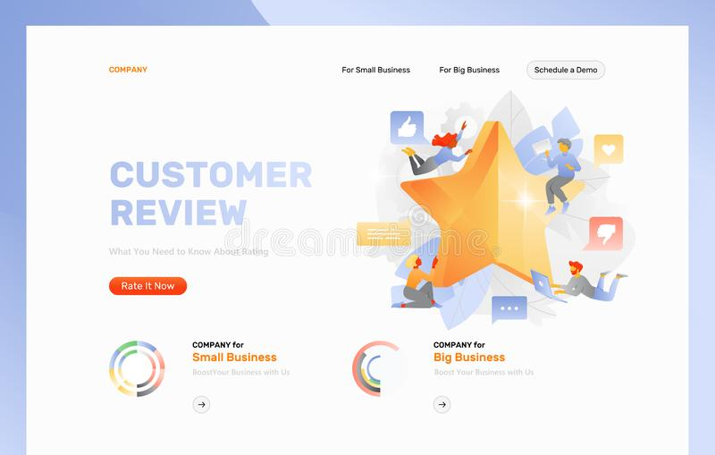 Rating Web Page Template stock illustration
