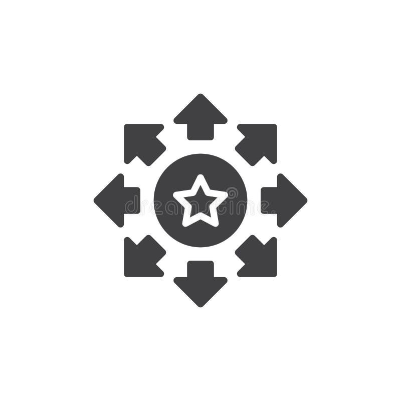 Ratingowa gwiazda z strzałami wokoło wektorowej ikony ilustracja wektor