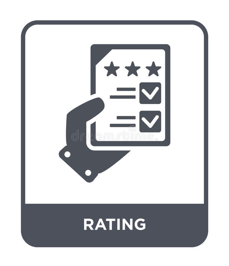 ratingowa ikona w modnym projekta stylu Ratingowa ikona odizolowywająca na białym tle ratingowej wektorowej ikony prosty i nowoży ilustracja wektor